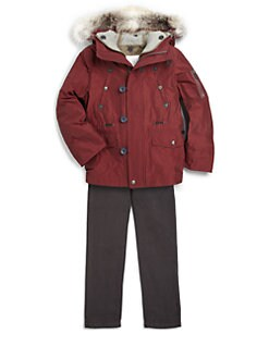 Burberry - Boy's Fur-Trimmed Three-in-One Parka