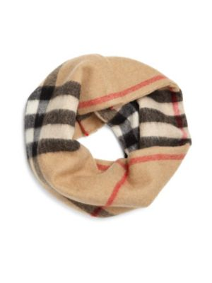 Kid's Exploded Check Cashmere Snood