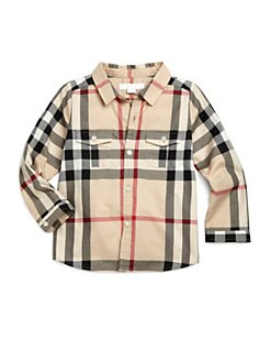 Burberry - Toddler's Woven Check Shirt