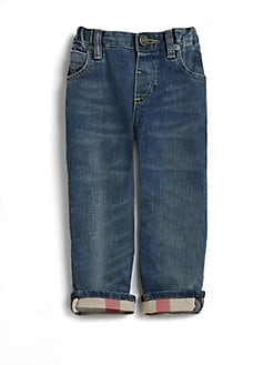 Burberry - Toddler's Check-Lined Jeans