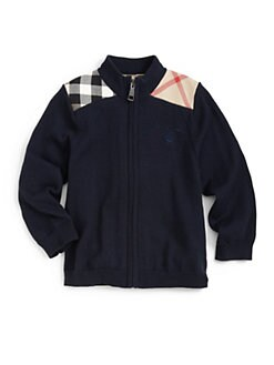 Burberry - Toddler's Check Shoulder Patch Sweater