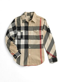 Burberry - Boy's Long Sleeve Check Shirt