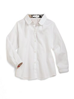 Burberry - Little Girl's Check-Lined Blouse