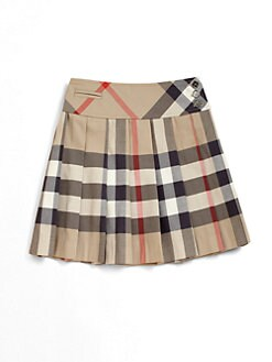 Burberry - Little Girl's Pleated Check Skirt
