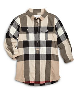 Burberry - Little Girl's Check Shirt Dress