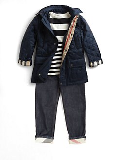 Burberry - Little Boy's Quilted Hooded Jacket