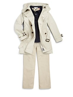 Burberry - Boy's Britton Hooded Trenchcoat