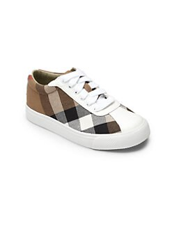 Burberry - Toddler's Lenny Lace-Up Check Sneakers