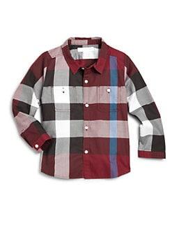 Burberry - Toddler Boy's Woven Cotton Check Shirt