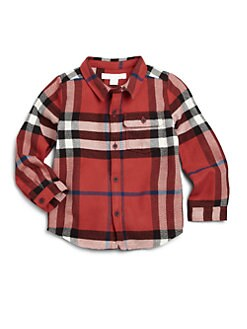 Burberry - Toddler Boy's Exploded Check Flannel Shirt