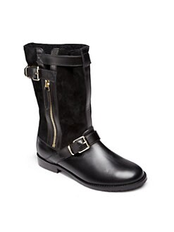 Burberry - Toddler's & Kid's Leather Buckle Boots
