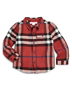 Burberry - Infant's Exploded Check Flannel Shirt