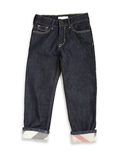 Burberry - Toddler's & Little Boy's Check-Lined Jeans