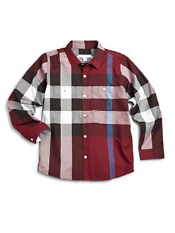 Burberry - Little Boy's Woven Cotton Check Shirt