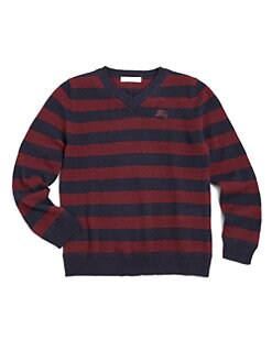 Burberry - Little Boy's Striped Cashmere Sweater