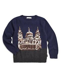 Burberry - Little Boy's Cashmere London Landmark Sweater