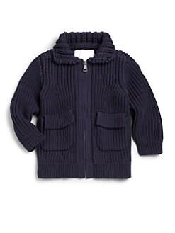 Burberry - Little Boy's Knit Zip-Front Sweater