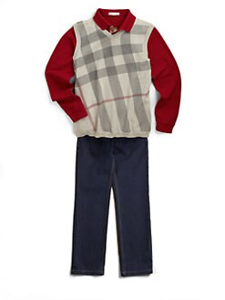 Burberry - Boy's Knit Check Vest