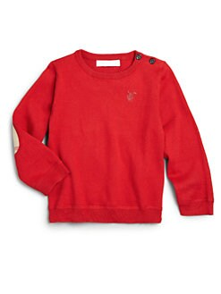 Burberry - Toddler Boy's Check Elbow Patch Sweater