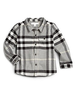 Burberry - Toddler Boy's Check Flannel Shirt