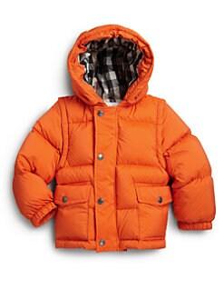 Burberry - Toddler Boy's Convertible Puffer Coat