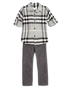 Burberry - Boy's Large-Check Flannel Shirt