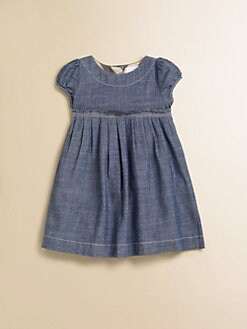 Burberry - Infant's Pleated Chambray Dress