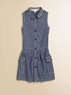 Burberry - Little Girl's Drop-Waist Chambray Dress