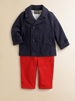 Burberry - Infant's Twill Peacoat