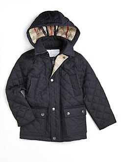 Burberry - Boy's Quilted Hooded Jacket