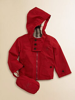 Burberry - Infant's Packable Hooded Jacket