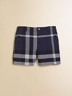 Burberry - Infant's Check Twill Shorts