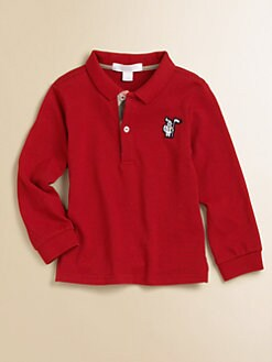 Burberry - Toddler's Long-Sleeve Pique Polo/Red