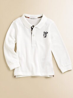 Burberry - Toddler's Long-Sleeve Pique Polo/White