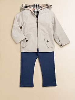 Burberry - Infant's Reversible Hooded Jacket