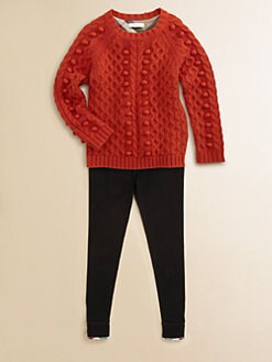 Burberry - Girl's Frosted Cable Sweater