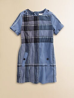 Burberry - Girl's Check A-Line Dress