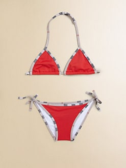 Burberry - Little Girl's Two-Piece Check Bikini