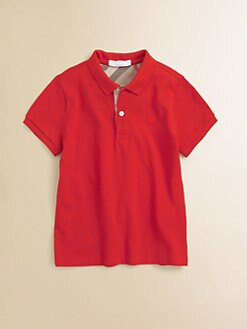 Burberry - Boy's Check Polo Shirt
