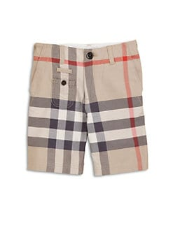 Burberry - Boy's Check Bermuda Shorts
