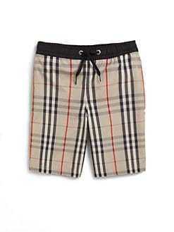Burberry - Boy's Check Swim Trunks