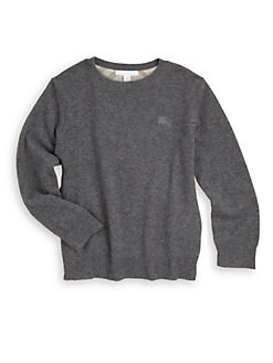 Burberry - Little Boy's Cashmere Check Patch Sweater