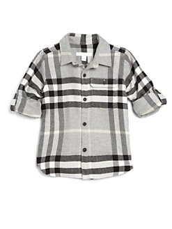 Burberry - Little Boy's Large-Check Flannel Shirt