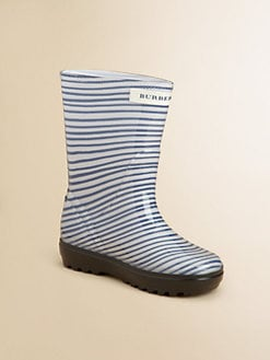 Burberry - Kid's Striped Rain Boots