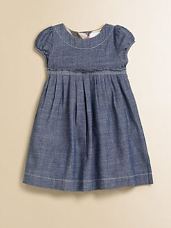 Burberry - Toddler's Pleated Chambray Dress