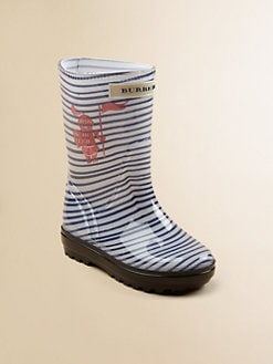 Burberry - Infant's & Toddler's Striped Rain Boots