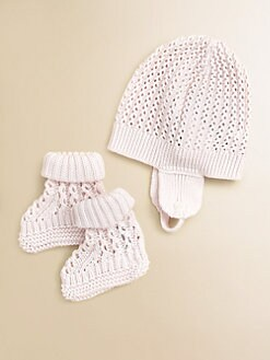 Burberry - Infant's Knit Hat & Booties Set