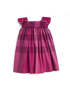 Burberry - Infant's Pleat-Front Check Dress