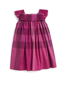 Burberry - Toddler's Pleat-Front Check Dress