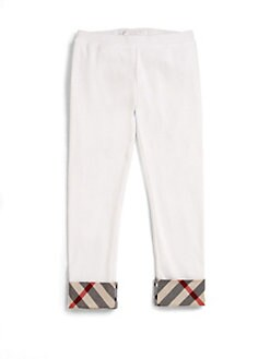 Burberry - Toddler's Check-Trimmed Leggings